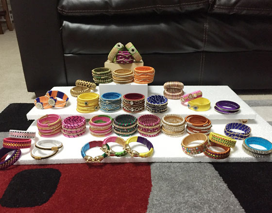 Bangles and ear rings for sale
