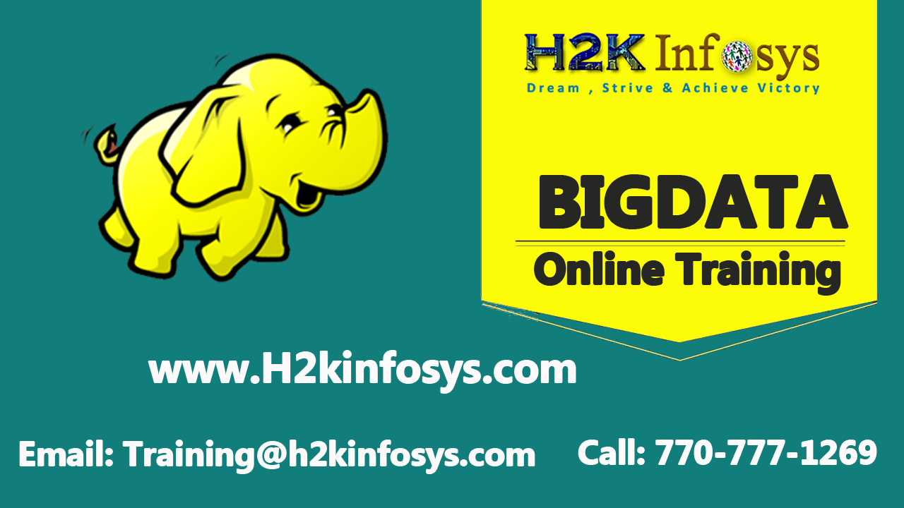 Big Data Hadoop Online Training Classes
