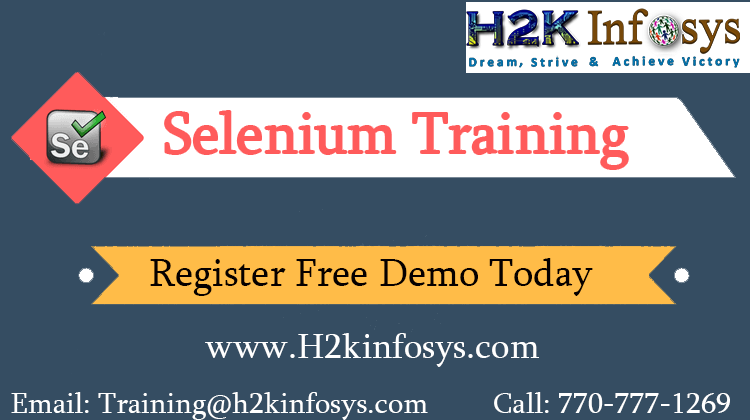 Selenium Online Training with Live Project